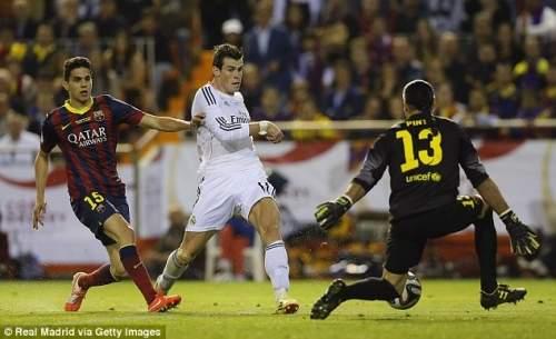 Мускатный орех: Пинто не может предотвратить Бэйл из забив сенсационное конце победителем для Реала