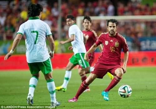Команда бить: Фабрегас будет надеяться Испания может сохранить чемпионат мира в Бразилии