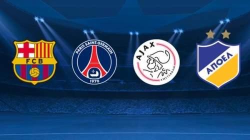 Барселона сыграет с ПСЖ, Аяксом и АПОЭЛ в группе F
