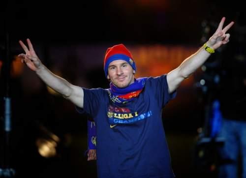 Lionel Messi - Barcelona Celebrates UEFA Champions League Victory