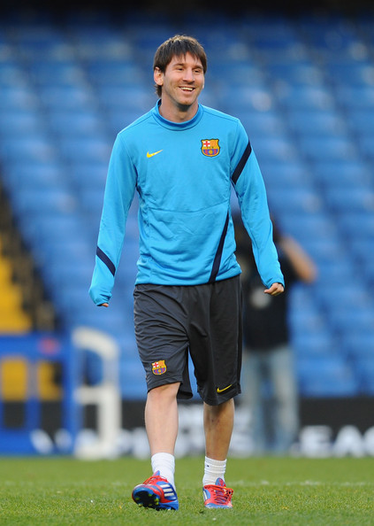Lionel Messi - Barcelona Training Session & Press Conference