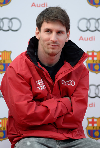 Lionel Messi - Barcelona FC Players Receive New Audi Cars in Barcelona