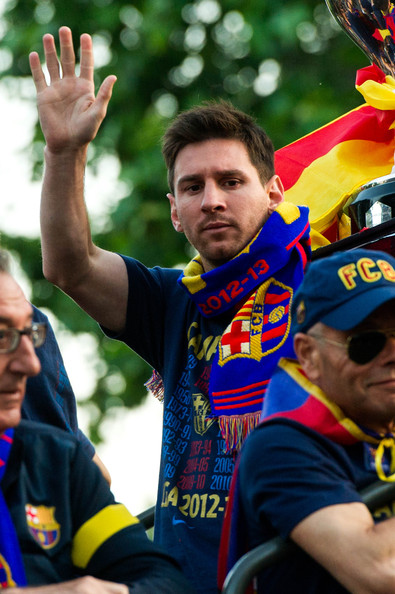 Lionel Messi - Barcelona Celebrates Spanish Liga Win with a Victory Parade