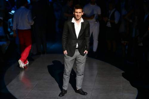 Lionel Messi - Dolce & Gabbana - Front Row - MFW S/S 2014