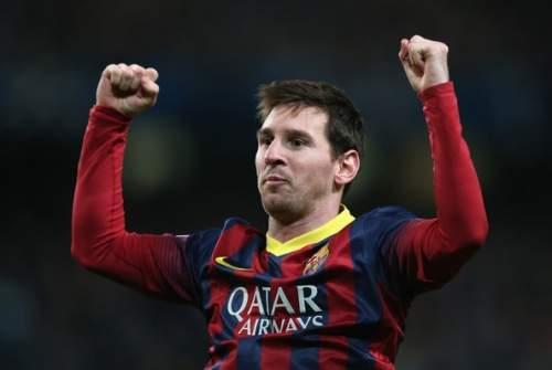 Lionel Messi - Manchester City v Barcelona